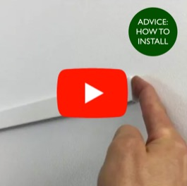 How to install picture rail